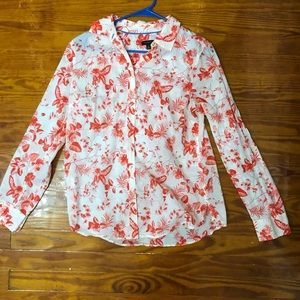 Floral button down Talbots